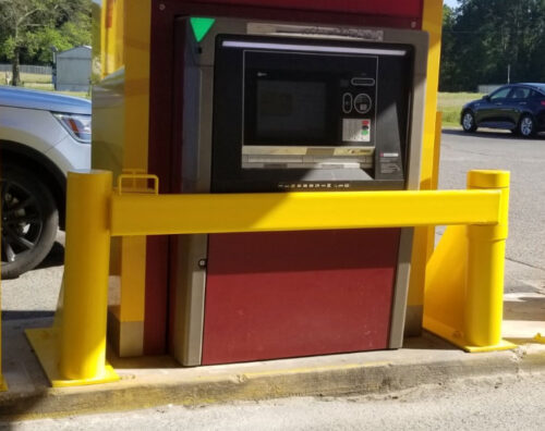New ATM Barrier Installed by The Security Center, Inc