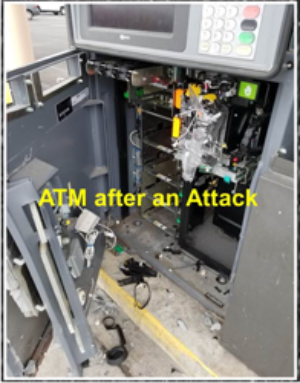 ATM After Being Broken Into