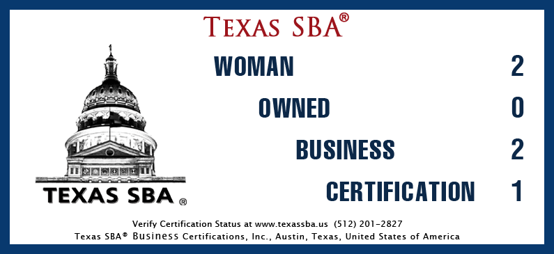 Texas SBA - Woman Owned Business Certification 2021